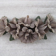 1930's Early Plastic Carved Floral Brooch