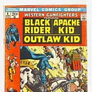 SALE 1972 Western Gunfighters Comic featuring Black Rider, Apache Kid, & Outlaw Kid, No. 8