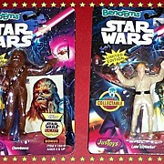 SALE 1993 Two Star Wars Bend-Ems Chewbacca and Luke Skywalker