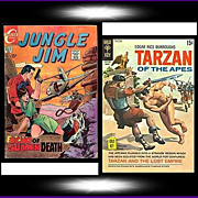 SALE 1969 Jungle Jim Comic, No. 26, & 1970 Tarzan Of The Apes Comic, No. 194