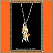 1980 Tonto with Horse Scout Charm Pendant Necklace