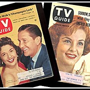 SALE Two TV Guides with Lawrence Welk and Marjorie Lord cover