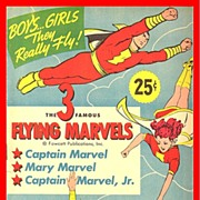 REDUCED The 3 Famous Flying Marvels Punch-Outs,1945, by Fawcett Publications