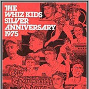 SALE 1975 Phillies Whiz Kids Silver Anniversary Souvenir Program, Mint
