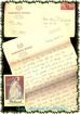 1920s Molinard/Orval Parfum Fragrance Card plus Sweetheart Letter &  Envelope