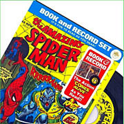 REDUCED 1974 The Amazing Spider Man Book and Record Set