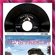 SALE 1957 Elvis Presley Peace in The Valley 45RPM Record