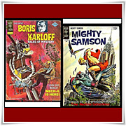 SALE 1969 Mighty Samson Comic, No. 18, & 1976 Boris Karloff--Tales of Mystery Comics, No. 66
