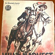 SALE WWII Era 1942 Sunday Novel, Wild Harvest, Philadelphia Inquirer