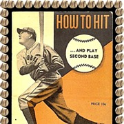 SALE 1940�s How to Hit�and Play Second Base Booklet By Rogers Hornsby