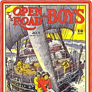 SALE 1937 The Open Road for Boys Magazine, July Issue
