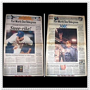 SALE Nolan Ryan1989 5,000th Strike-Out & 1990 300th Win, Fort Worth Star-Telegram ...