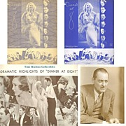 SALE 1933 Dinner At 8 Souvenir Program and Lionel Barrymore Photograph