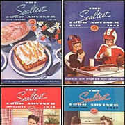 SALE Four WWII Era 1941/42 The Sealtest Food Adviser Cookbooks