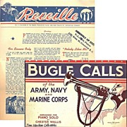 SALE 1943 Bugle Calls of the Army, Navy and Marine Corps Book & 1940�s Reveille ...