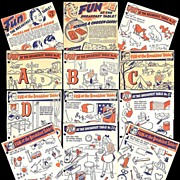REDUCED 1940's Fun at The Breakfast Table Cereal Box Premiums
