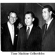 REDUCED 1959 All Star Banquet Photo of Ted Williams, Stan Musial and Vice President Richard Ni
