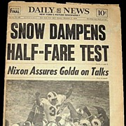 SALE 1973 New York Daily News--O. J. Simpson Rushes for 2003 Yards�Dec. 16, 1973