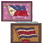 SALE 1900�s Tobacco Felt Flags of Philippines, Costa Rica, and Honduras