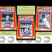 REDUCED 1992 Wheaties 60 Years of Sport Heritage Cereal Boxes Ruth, Gehrig, and Mays
