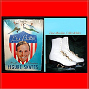SALE Dick Button World Champion Figure Skates, Original Box