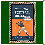 SALE Rare 1943 Official Softball Rules by Hillerich & Bradsby Company