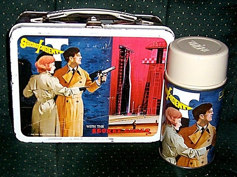 1968 Secret Agent Metal Lunchbox and Thermos