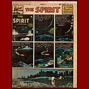 REDUCED 1947 The Spirit Weekly Comic Book--Flying Saucers