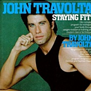 REDUCED 1984 John Travolta Staying Fit!  Exercise Book