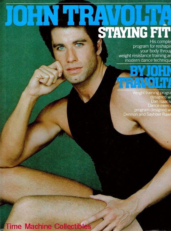 1984 John Travolta Staying Fit Exercise Book from  : 78451L from www.rubylane.com size 592 x 800 jpeg 92kB
