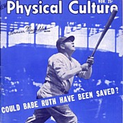 1948 Babe Ruth Cover Physical Culture Magazine, November Issue