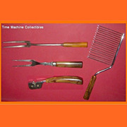 REDUCED Four Vintage Bakelite Kitchen Utensils