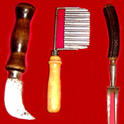 Three Wooden Handle Kitchen Utensils