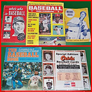 1940�s-90�s Baseball Paper Memorabilia Assortment