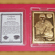 REDUCED 1997 Jackie Robinson Promint 22K Gold Baseball Card, No. 125