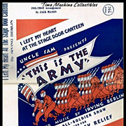 1942 Music Score--I Left My Heart at The Stage Door Canteen, Fox-Trot Arrangement