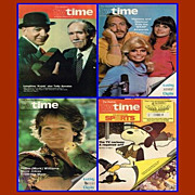 Eight 1970�s/1981 TV Time TV Schedules, Philadelphia Sunday Bulletin