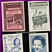 REDUCED Six 1937 Movie Theatre Coming Attractions Ads