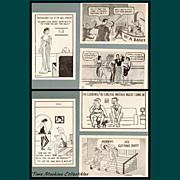 Six 1930�s/1940�s Comic Risqu� Postcards