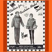 1963 Clothes for Fashion Model Dolls Booklet Styled by Hilde