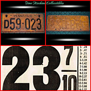 1928 Pa License Plate & 1920�s Gas Price Card