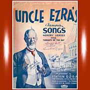 1937 Uncle Ezra's Famous Songs, Memory Verses, & Thoughts Of The Day