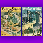 REDUCED January/February 1947 Foreign Service Magazines with the Philadelphia Eagle Chuck ...