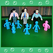 1980 Popeye and Friends and 1991 Three Stooges Rubber Figures