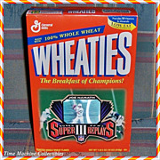 1996 Joe Namath Hologram Wheaties Super Bowl III Unopened Box