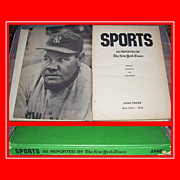 1976 Sports Book with New York Times Articles From 1892 to 1975