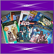Nine Star Wars Books & Magazines from 1983-1999