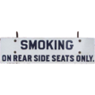 Porcelain / Steel &quot;SMOKING&quot; Railroad Passenger Car Sign