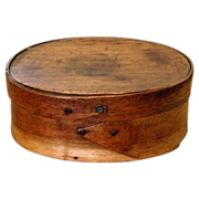 REDUCED Tiny One-Finger Wooden Shaker Oval Box