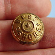 Antique West Shore Railroad Brass Uniform Button Cover Jacket